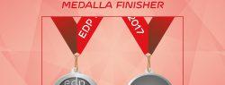 Medalla Finisher del EDP Medio Maratón de Sevilla 2017